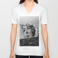 atlanta V-neck T-shirts featuring Atlanta by MartiGrasz