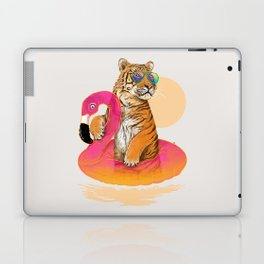 Chillin (Flamingo Tiger) Laptop & iPad Skin