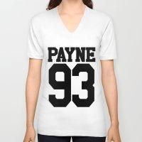 liam payne V-neck T-shirts featuring PAYNE by Aline Monteiro