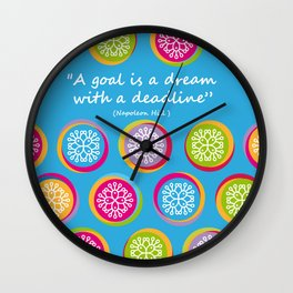Colorful Texture Wall Clock
