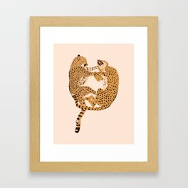 Cheetah Cuddles Framed Art Print
