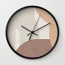 Mid Century Line Art I Wall Clock