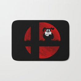 Smash and Laugh (red) Bath Mat