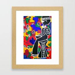 King Kofi the Afronaut Framed Art Print