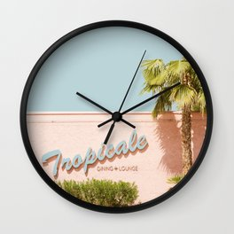 Tropicale Lounge – Retro Palm Springs Photography, Midcentury  Wall Clock