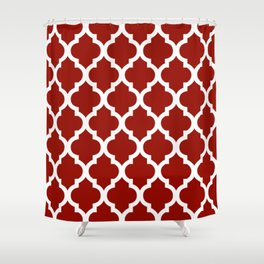 Moroccan Red Brown Shower Curtain