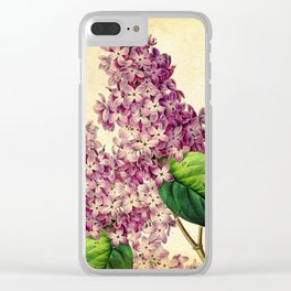 May Lilacs Clear iPhone Case