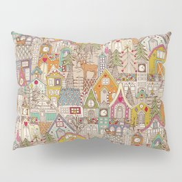 vintage gingerbread town Pillow Sham