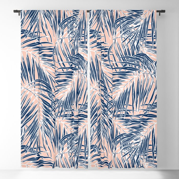 Tropical paradise pink Blackout Curtain