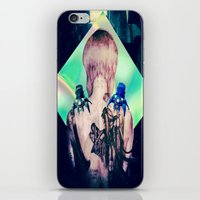 ghost in the shell iPhone & iPod Skins featuring ghost in the shell tribute: 25th anniversary  by Candice Steele Collage and Design