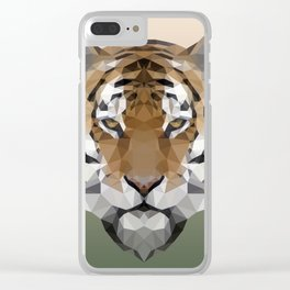 Polygon Tiger Clear iPhone Case