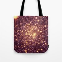rose gold Tote Bags featuring Rose Gold by Space & Galaxy Dreams