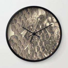 Antique Honeycomb Illustration Wall Clock