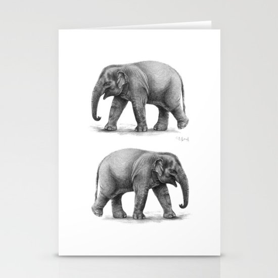 Elephant Baby G092 Stationery Cards