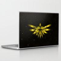 triforce Laptop & iPad Skins featuring Zelda - Triforce by albert Junior
