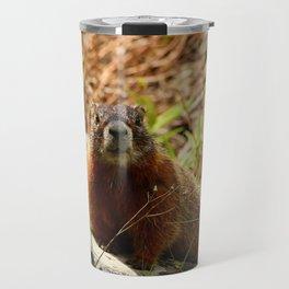 Marmot On A Rock Travel Mug