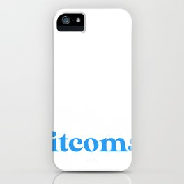 Introverted But Willing to Discuss Sitcoms iPhone Case