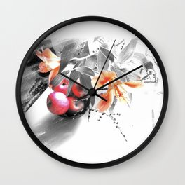 apples and lilies Wall Clock