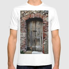 door two Mens Fitted Tee SMALL White