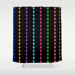 Geometric Droplets Pattern - Rainbow Colors Shower Curtain