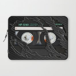 Retro classic vintage Black cassette tape Laptop Sleeve