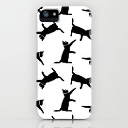 Cats on White iPhone Case