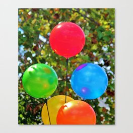 Party Balloons Canvas Print