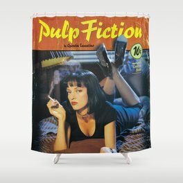 Pulp Fiction Movie Poster, Written And Directed By Quentin Tarantino Artwork, Posters, Prints, Tshir Shower Curtain