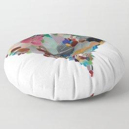 Love - Original Sea Glass Heart Floor Pillow