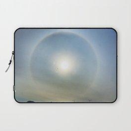 Plane in the Sun circle Laptop Sleeve