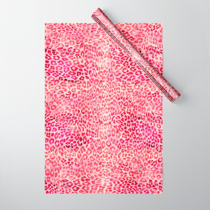 6f6fd853b9b7 Pink Leopard Print Wrapping Paper by serigraphonart | Society6