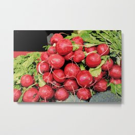 Harvest Red Radishes Metal Print