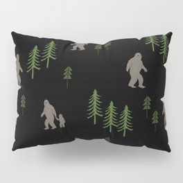 Sasquatch forest woodland mythic animal nature pattern cute kids design forest Pillow Sham
