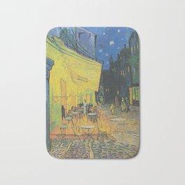 Vincent van Gogh - Cafe Terrace at Night Bath Mat