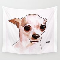 chihuahua Wall Tapestries featuring Chihuahua by BNVDO ARTS
