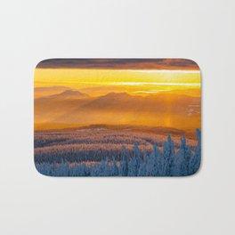 Serwa's Mountain Sunset Bath Mat