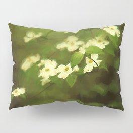 Oil Painting Dogwoods Pillow Sham