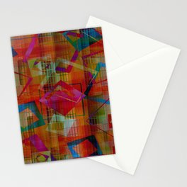 Topsy Turvy Squares Stationery Cards