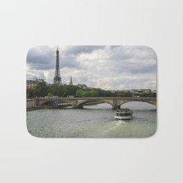 Eiffel Tower and the River Seine Bath Mat