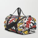 Modern Comic Book Superhero Pattern Color Colour Cartoon Lichtenstein Pop Art by seasonofvictory