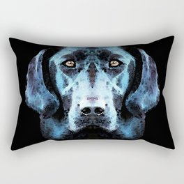 Hunter - Black Lab Art By Sharon Cummings Rectangular Pillow