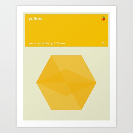 Color Print - Yellow Art Print