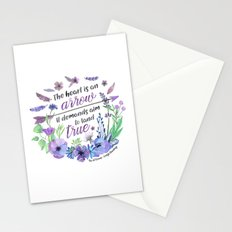 The heart is an arrow Stationery Cards