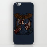 nouveau iPhone & iPod Skins featuring Elizabeth Nouveau by Karen Hallion Illustrations