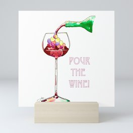 Pour the Wine! Mini Art Print