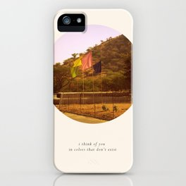 i think of you in colors that don't exist iPhone Case
