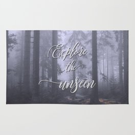 Explore the unseen mystic misty woods adventure Rug