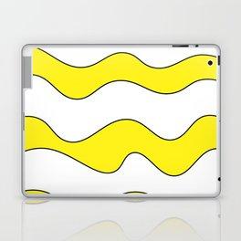 Lines Yellow Laptop & iPad Skin