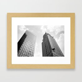 Empire State Building in the Clouds Framed Art Print