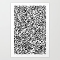 Black & White Rocks Art Print